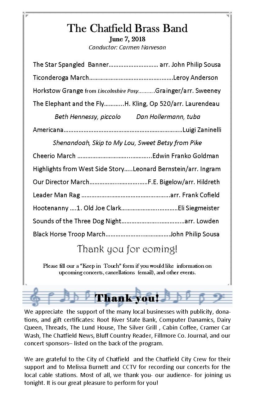 Encore! – Chatfield Brass Band